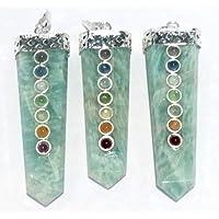 viele (3) Drei Amazonit Flach Chakra Anhänger HEILUNG Spirituelle Divine Fashion Jewelry Kristall Therapie preisvergleich bei billige-tabletten.eu
