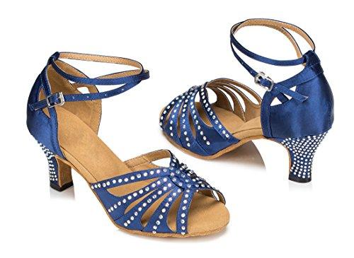TDA , Peep-Toe femme 6cm Heel Blue