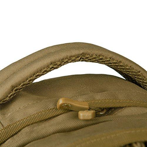 Unisex Outdoor-Reisen Bergsteigen Taschen Camping Rucksack Radfahren Paket Tactical Armee Fans packen Kampf-Rucksack 35L Assault Pack Braun