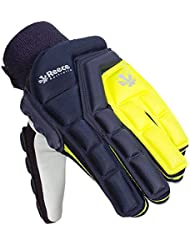 Reece Elite Protection Full Finger Guantes de campo Hockey de color azul oscuro Amarillo Marino de amarillo, L