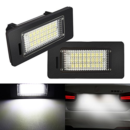 AMBOTHER-2x-LED-Kennzeichenbeleuchtung-Nummernschildbeleuchtung-Kennzeichen-Licht-fr-BMW-E39-E60-E61-E70-E71-E90-E91-E92-E93