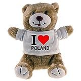 Multifanshop Kuscheltier Bär Classic I Love Poland beige