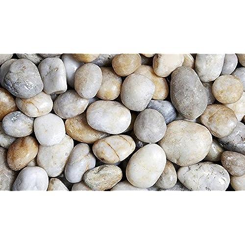 Large stones amazon 3 5 cm polished pebbles 1kg natural white decorative garden plant topper stones workwithnaturefo