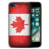 Stuff4 Coque Gel TPU de Coque pour Apple iPhone 7 / Canada/Canadien Design/Drapeau Collection