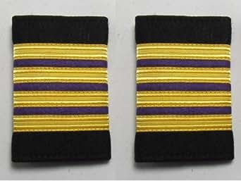 Boutique uniforme London Epaulette chef mécanicien navigant de la marine marchande dérapant sur 4 Soft R1254 de lingot d'or