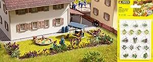Noch - 14058 - Modélisme Ferroviaire - Plantes De Jardin - 17 Pièces - Laser-Cut Minis+