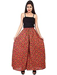 Jaipur Skirt Women's Regular Fit New Fashionable Cotton Straight Divider Printed Palazzo Pant (JBPZ00291- X-Large...