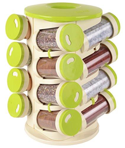 Trueware Plastic Spice Rack 16 in 1, Multicolor