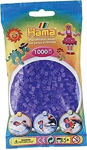 Hama Bolsa de Repuesto de 1.000 Cuentas cilíndricas de plástico, Color Lila translúcido