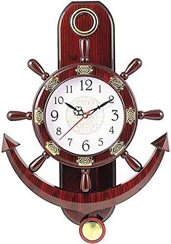 Dinnie Craft Designer Pendulum Wall Clock(Brown Color) (37 cm x 17 cm)