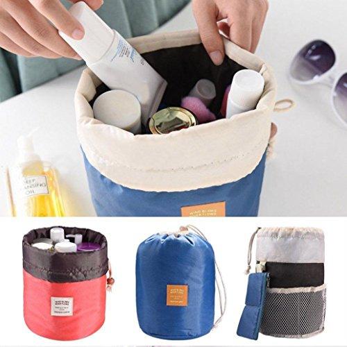 NPRADLA Fass Reise Kosmetik Tunnelzug waschen Make-up Veranstalter Lagerung Toilettenartikel Tasche B