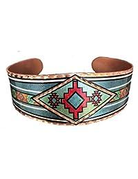 5767d01e37c BRACELET AJUSTABLE EN CUIVRE FAIT AVEC UN DESIGN CHARMANT EXCLUSIF(south  native Native Indian
