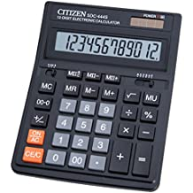 Citizen SDC-444S Escritorio Basic calculator Negro - Calculadora (Escritorio, Basic calculator, Negro, Square root, Decimal, Botones, palanca)