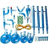 35pezzi Nuovo laboratorio olio essenziale di vapore distillazione chimica organica vetreria apparecchio kit completo set W/24/40giunti Separatory imbuto