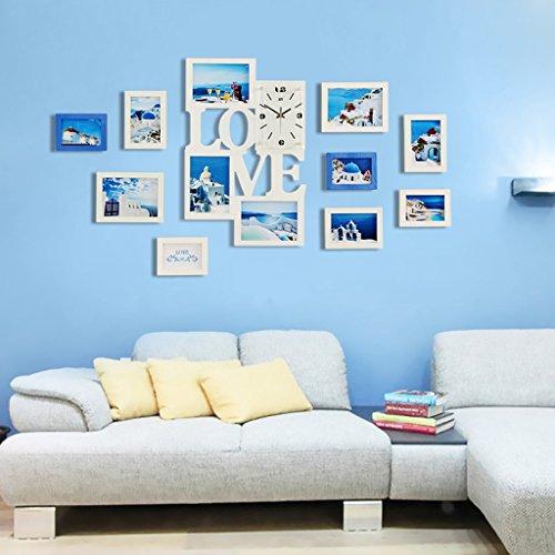... SXFR ZN Massivholz Foto Wand Bilderrahmen Wand Wohnzimmer Mittelmeer  Europa Stil Bilderrahmen Verschmelzen Wand Moderne ...