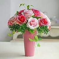 Fiori artificiali Rose potted soggiorno tavolo da