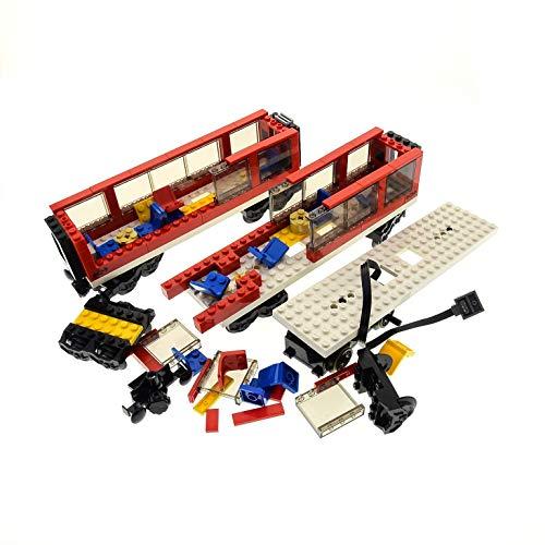 1 x Lego System Set Modell 7938 City Passagier Zug rot schwarz Train Lok Waggon Eisenbahn Power Funktion Motor geprüft unvollständig ()