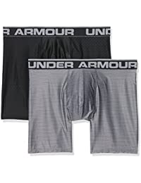 Under Armour O-Series 6in Boxerjock 2pk Novelty Ropa Interior, Hombre, Negro (001), XL