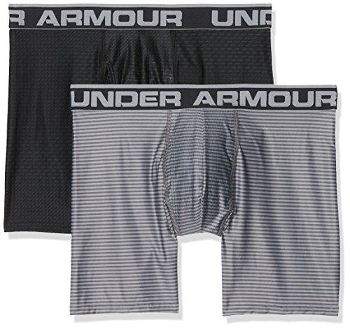 Under Armour Herren Original 6in 2 Pack Novlty Unterhose, Black/Steel, M