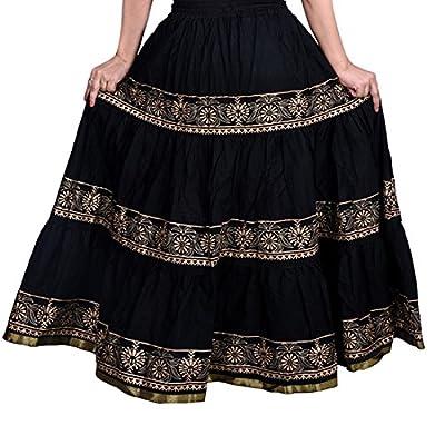 Decot Paradise Women's A-Line Skirt (DL3123_Black_Free Size)