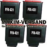 4x Tintenpatronen kompatibel zu Philips PFA-431 Schwarz / Black mit Füllstandsanzeige (KEIN Original) Drucker-Patronen Set