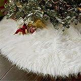 WopenJucy Deco Runde Filz Baumdecke Weißer Weihnachtsbaum Rock Weihnachtsthema Verzierung