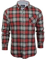 Chemise à carreaux en flanelle à manches longues par Brave Soul pour homme