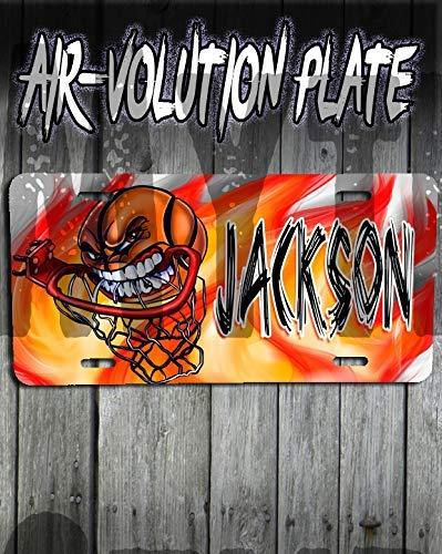Mythic Airbrush Personalisierte Airbrush Basketball License Plate Tag Rim Plate