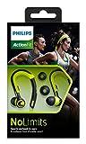 Philips SHQ3400CL/00 ActionFit Ohrbügel Sportkopfhörer (Leicht, optimale Soundleistung) grün/schwarz -