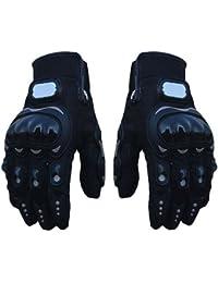 E9Q verano Aire libre Negro Deportes Moto 3D-dimensionales transpirable de malla Guantes