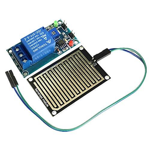 Ferrell 12V Rain Water Raindrop Relay Sensor Control Relay Module Kit Compatible Arduino Robot -