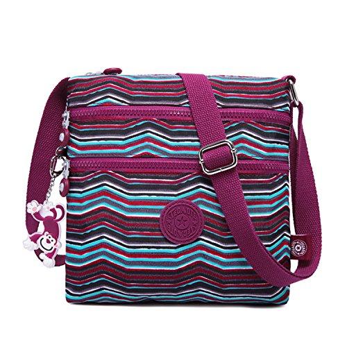Foino borsa tracolla donna borse a spalla moda sacchetto scuola borsa sportiva borsello studenti borsetta vintage tasca leggero borse da viaggio per sport messenger bag