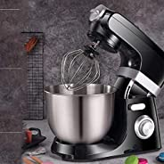 Kitchen Mixers - 1500W 7L 4-in-1 Beater/Whisk/Dough Hook/Flex Edge Beater, Powerful and Practical Food Mixer i