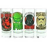 Juego de vasos de chupito, diseño de citas de Star Wars (en inglés)