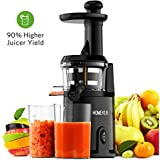 Slow Juicer Machine, Homever Masticating Juicers Extractor for Whole Fruits and Vegetable, Easy to Clean Cold Press Juicer, Quiet Motor and High Nutrition Juicers [Energy Class A++]