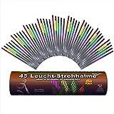 45 Knicklichter Strohhalme 5 FARBMIX Testnote 1,4 'SEHR GUT'