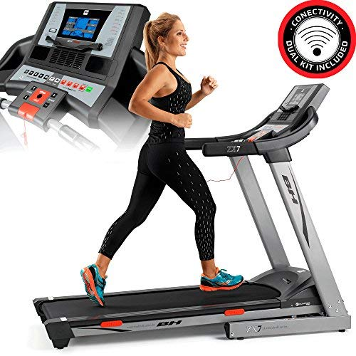 BH Fitness i.Zx7 G6473iRF cinta de correr motivacional - 18Km/h - Superficie carrera extra ancha 135x51cm - 2.75CV - Inclinación hasta 12{10a6cb0fd30d0628d458c0511e1767015d8a0f6d8f5efd3d49a9caba73640ce0} - Android/iOS compatible