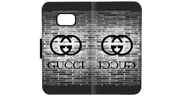 b1d045068e3 Gucci 498KG Samsung GALAXY S7 Edge Leather Wallet Cell Phone Case GH845 Personalized  Durable Flip Case Cover  Amazon.co.uk  Electronics