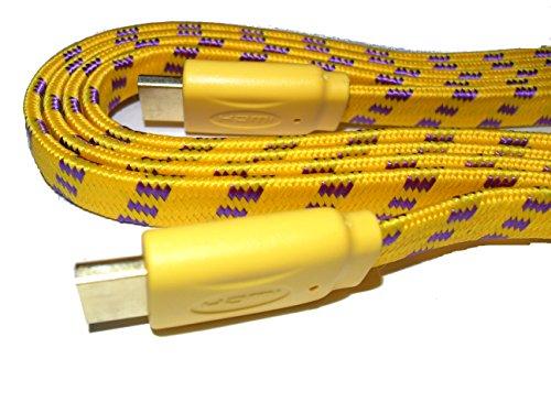 Preisvergleich Produktbild C63 ® gelb [],  High Speed,  flach,  Blei PRO GOLD HDMI-Kabel (HDMI 1.4,  für PS4,  SKY HD,  4 k,  Ultra HD.] [1