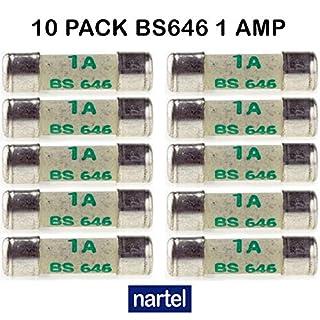 Nartel® 10 X 1 AMP SHAVER FUSES BS646 1AMP MINI FUSE 20MM X 5MM