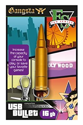 USB Gangsta Bullet 16GB Memory Stick (Xbox 360/PS3/PC DVD)