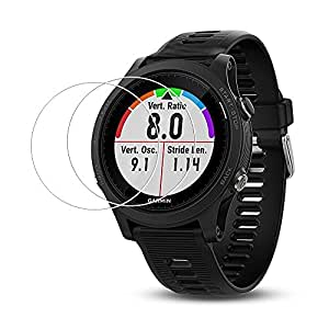 (2 Pack) Forerunner 935 Screen Protector,Full Coverage 9H Hardness Tempered Glass Screen Protector for Garmin Forerunner 935 Smart Watch with Anti-fingerprint Bubble-Free Crystal Clear
