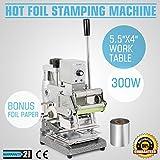 hpcutter Heißfolienprägung Maschine manuell Kippmulde Stempel: Bronzing für PVC ID Kreditkarte mit einem gratis Folie Papier