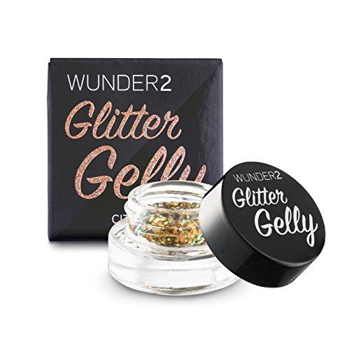 WUNDER2 Glitter Gelly Long-Lasting Glitter Gel - handliches und lang anhaltendes Glitzergel, Farbe: Citrine