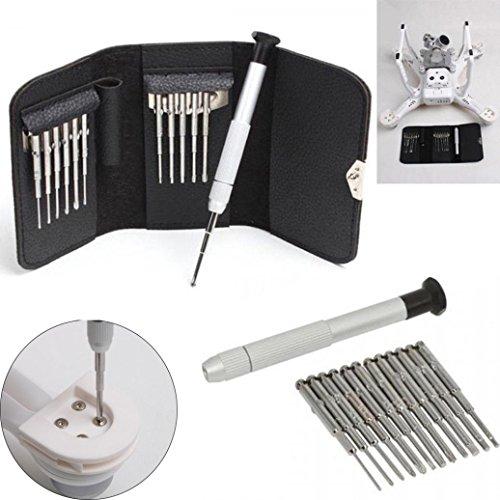 Preisvergleich Produktbild LCLrute Hohe Qualität Schraubendreher 13 teile / satz Schraubendreher Reparatur Werkzeuge Kit + Tasche für DJI Phantom 3 / 4 Mavic Pro Drone (Schwarz)