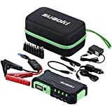 Suaoki G7 - Jump Starter 18000mAh, 600A arrancador emergencia para coche (vehículo de gas o diesel con bateria 12V, linterna LED, USB puertos 12V/16V/19V cargador batería externa, para smartphone, tablet) Verde