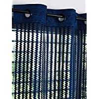 Story at Home DSH1404 Polyester 2 Pieces Set Fancy Sparkling Door Window Sheer Strip Beautiful String Beads Hanging Net Curtain - 7ft, Navy