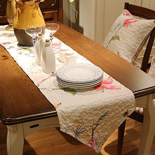 DHSNJKL Tischläufer/full cotton table flag/anti-slip tea table dekoration-B 35x180cm(14x71inch) Chiffon Full Slip
