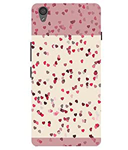 Citydreamz Pink Hearts\Love Hard Polycarbonate Designer Back Case Cover For OnePlus X