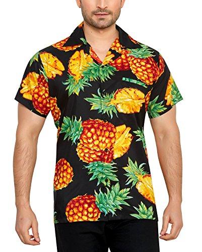 Club cubana camicia da uomo hawaiana floreale classica casual a maniche corte slim fit m